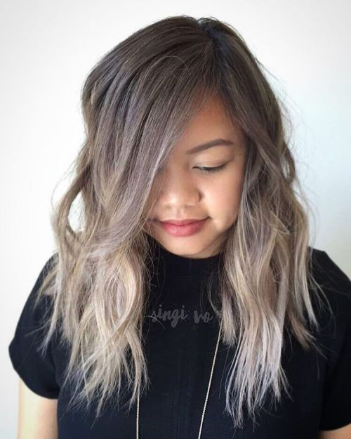Shaggy Ash Brown Ombre Hairstyle