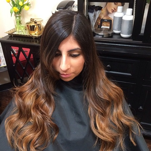 Long Brown Ombre Hair