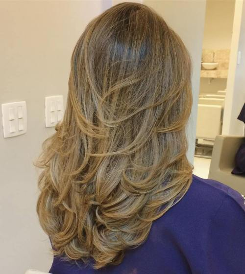 Long Layered Golden Blonde Hair