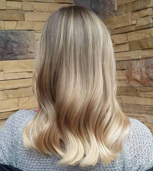 ash blonde sombre