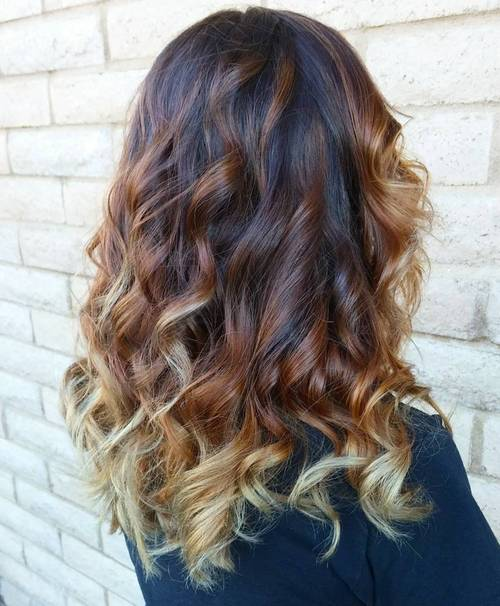 3-color ombre for brunettes