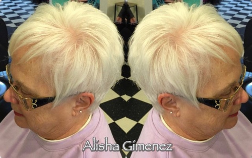 easy short hairstyle for women over 50