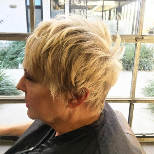 Over Blonde Pixie Hairstyle
