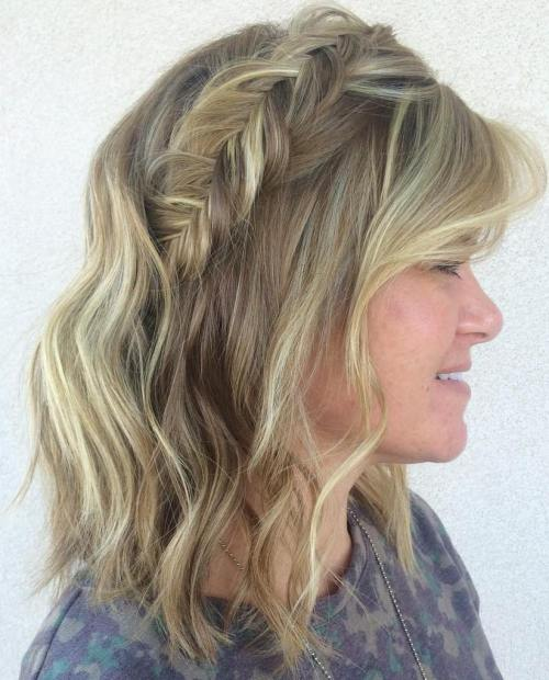 Shoulder-Length Braided Hairstyle
