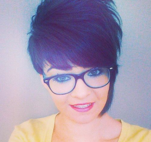 asymmetrical short hairstyle