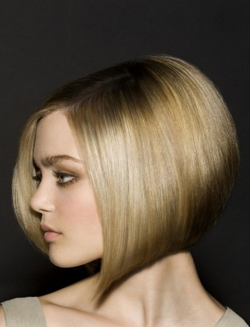 Hairstyle Stacked Bob Haircut Round Faces