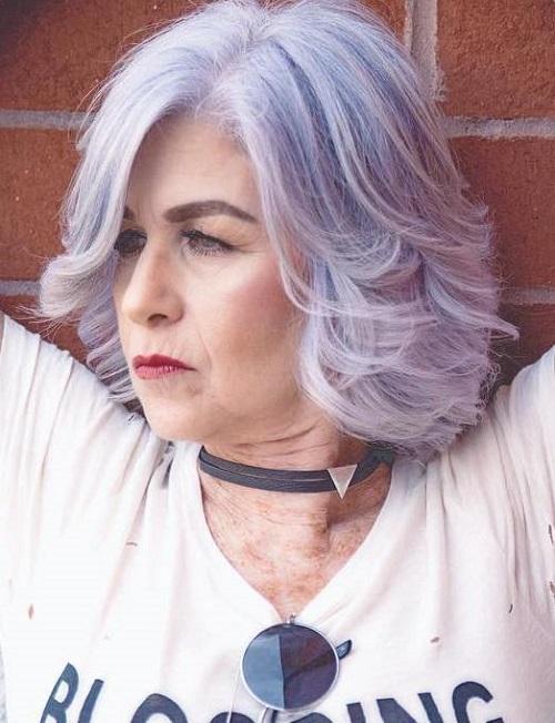 Lavender Bob For Women Over 50