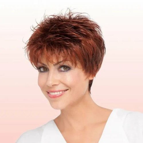 Short Feathered Hairstyles for Women Over 50