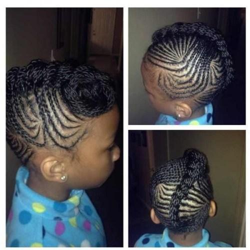 braided Mohawk updo