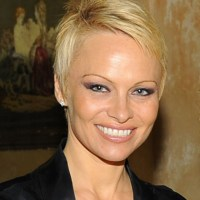 Pam Anderson pixie haircut