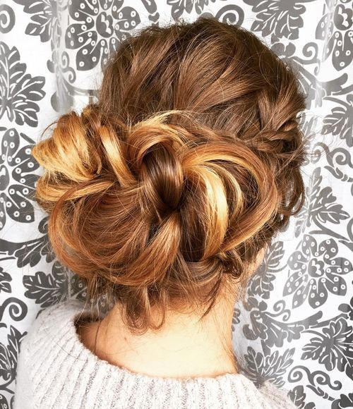 Elegant Braided Updo For Long Hair