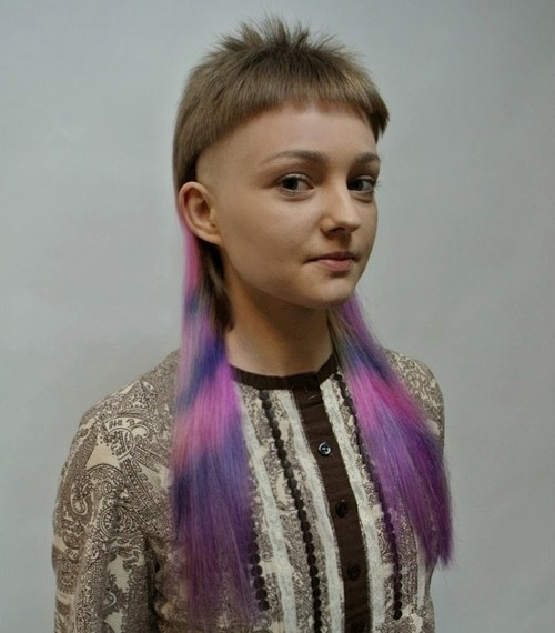 funky mullet hairstyle