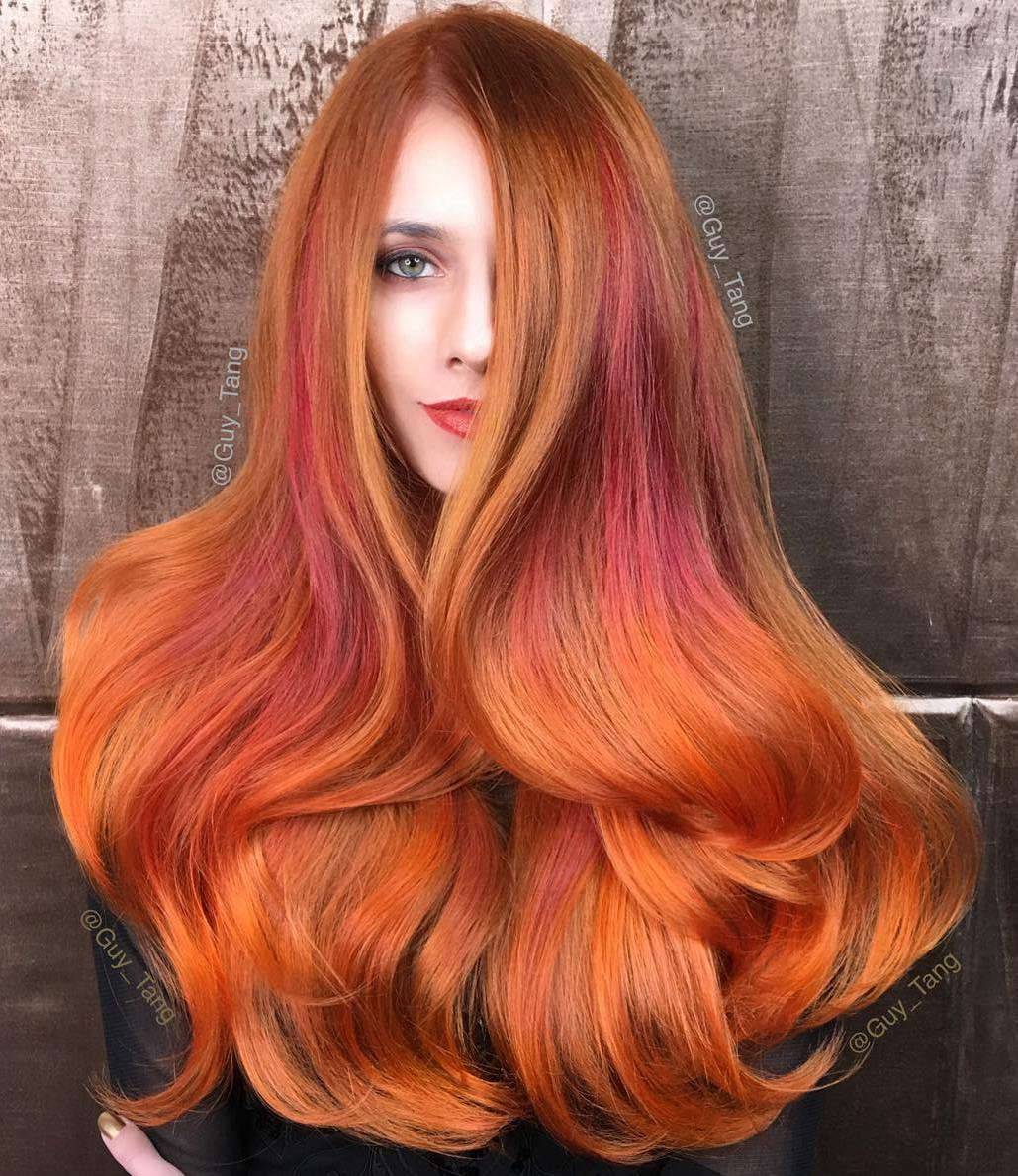 Top 20 Orange Hair Color Ideas of 2019 – Neon, Burnt, Red Blonde