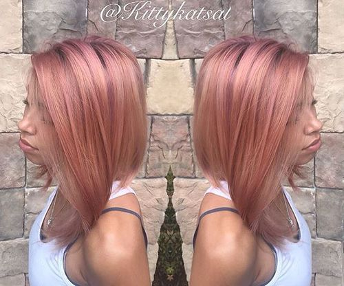 Light brown hair with rose gold highlights trendy hairstyles in light brown hair with rose gold highlights pmusecretfo Choice Image