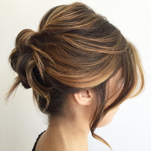Hairstyles For Medium Length Hair And How To Do It : Easy updo hairstyles for medium length hair in