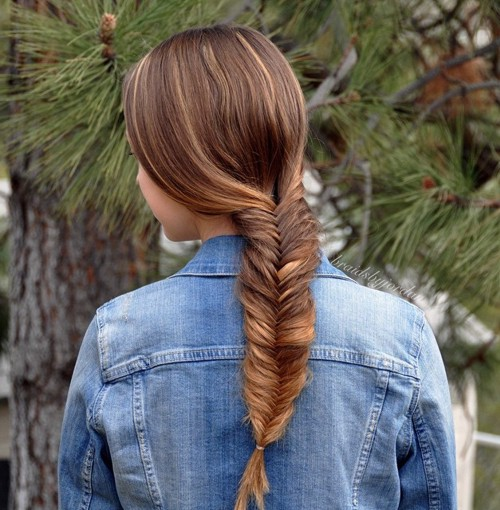 chunky fishtail braid