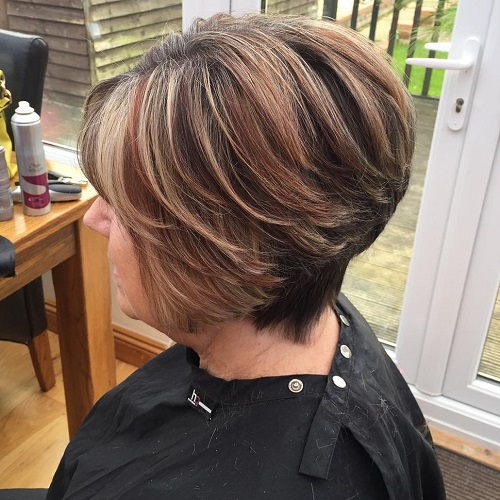 Over Short Balayage Hairstyle