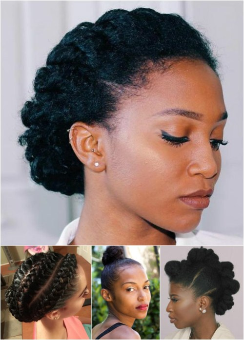 updos for medium length natural hair