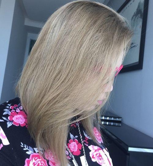 dark ash blonde hair