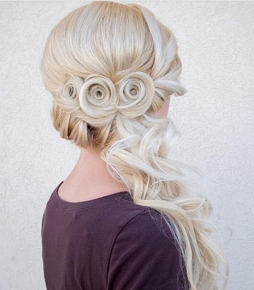 platinum blonde wedding hairstyle