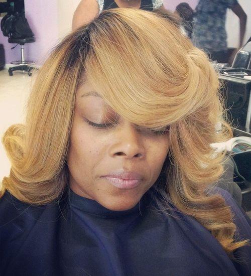 golden blonde hair for black women