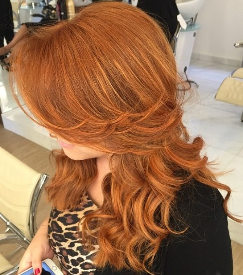 Long Curly Red Hairstyle