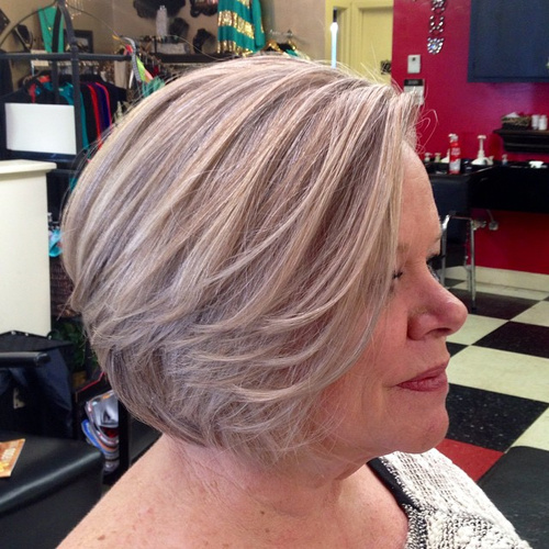 Ash Blonde Bob For Women Over 50