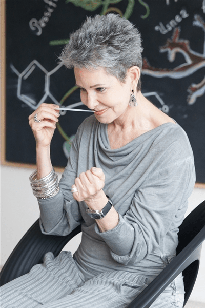Ann Gottlieb short hairstyle for grey hair