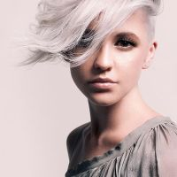 short asymmetric pixie hairstyle
