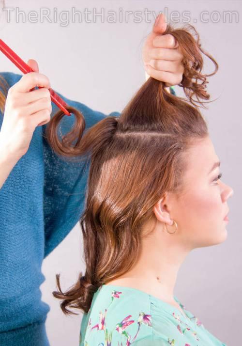 backcombing hair