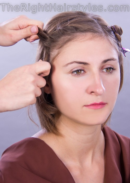 how to do twists in the bangs