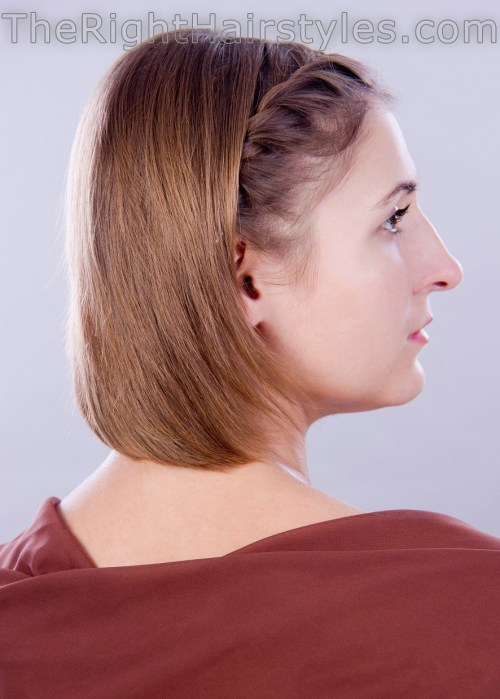 short hairstyle for fine hair with twists