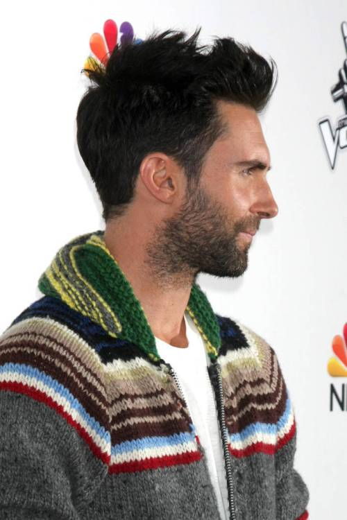 Adam Levine short men's hairstyle