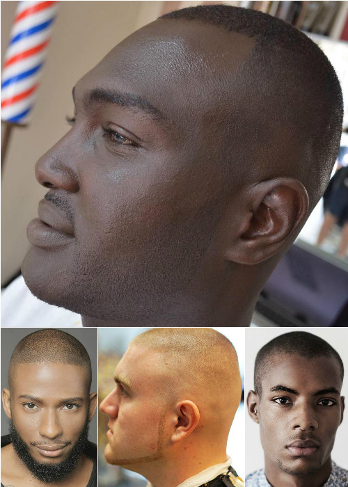 men's extra short half shaved haircut