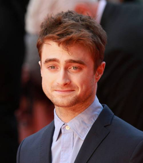 Daniel Radcliffe's messy hairstyle for guys