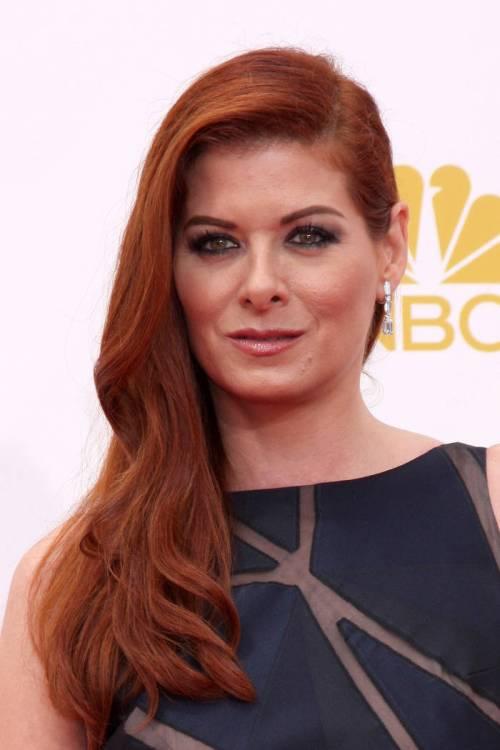 Debra Messing side downdo for red hair