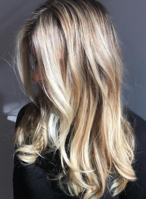 long disheveled blonde hairstyle