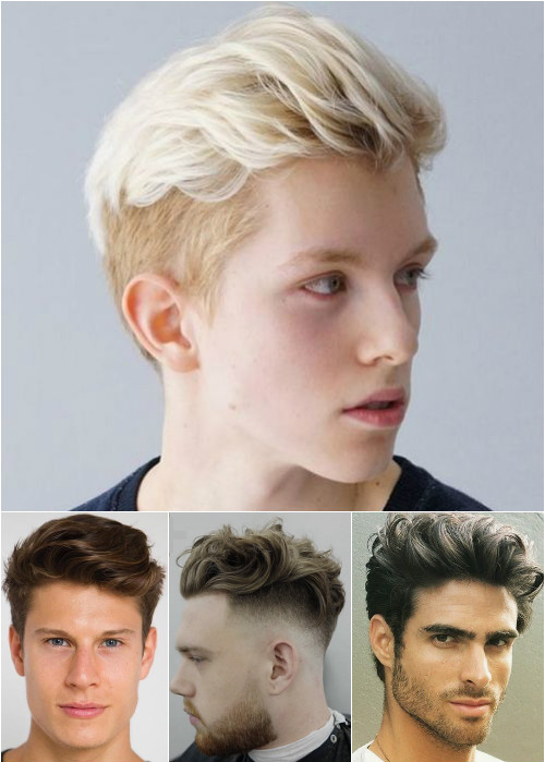 men's long top short sides hairstyles