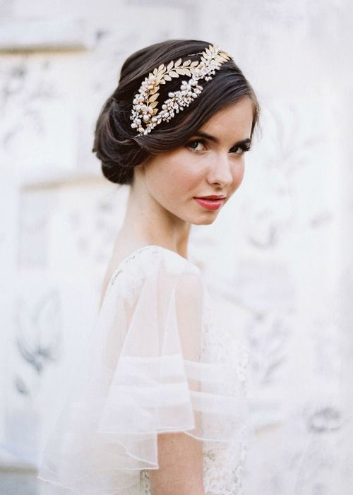 retro bridal updo