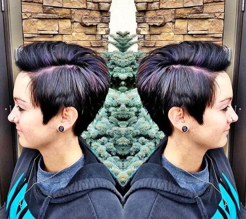 choppy pixie for thick hair