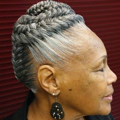 braided hairstyle for women over 60