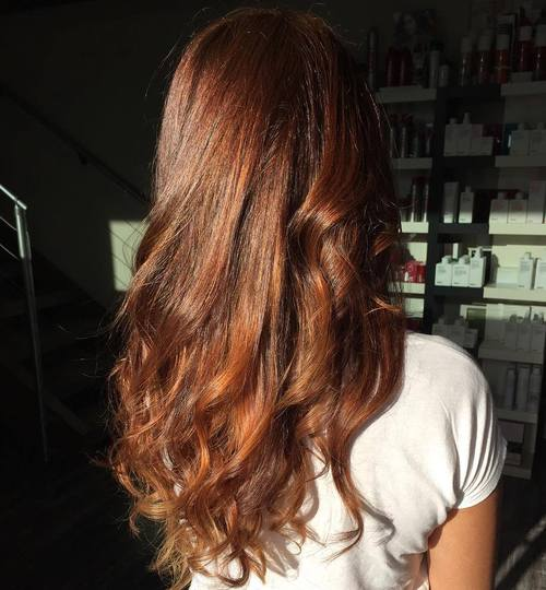 Long Wavy Chestnut Brown Hair