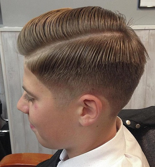 Boys Side Part Taper Cut