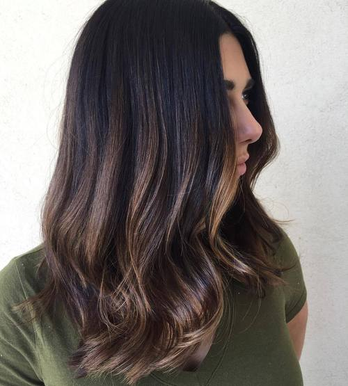 Subtle Balayage For Dark Brown Hair