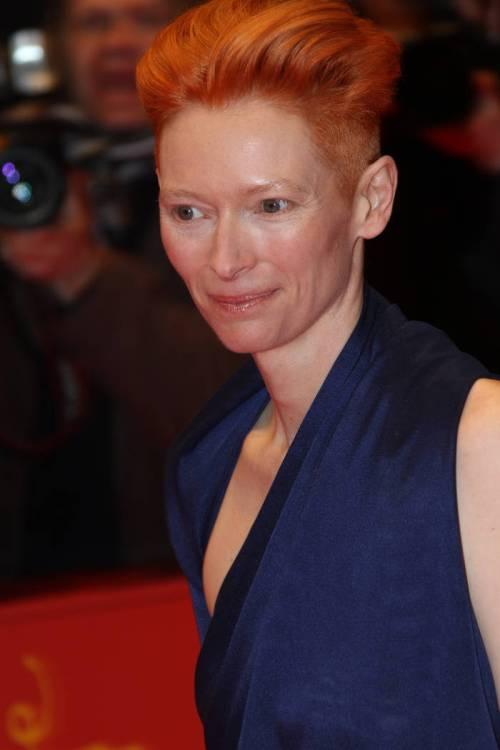 Tilda Swinton short red hairstyle