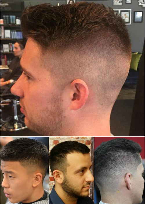 short men's hairstyles with faded sides