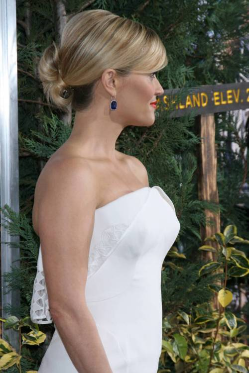 low updo for long blonde hair