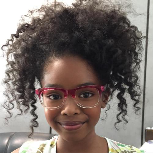 Black Curly Hairstyle For Little Girls