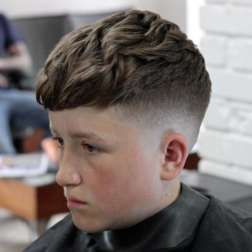 Choppy Fade For Boys