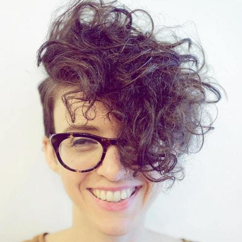 Short Hairstyle With Long Curly Top